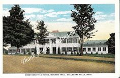 Vintage Postcard of the Sweetheart Tea House, Mohawk Trail, in Shelburne Falls, Massachusetts Another establishment that one could wish would return to its former charm.