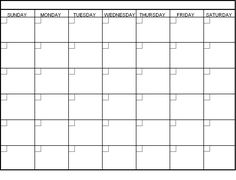 Blank Printable Monthly Calendar Templates | Calendar template ...