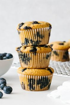 The best paleo blueberry muffin recipe! They're the perfect Easter brunch recipe and sweet spring recipe. #easterdessert Paleo Blueberry Muffins, Healthy Muffins, Blue Berry Muffins, Healthy Snacks, Blueberry Cake, Paleo Treats, Quick Bread Recipes, Muffin Recipes, Baking Recipes