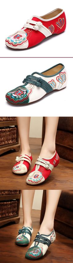 Very good looking and comfy shoes.#embroidery #flowers #womenswear