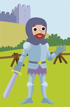 #knight #medieval #vector #illustration #cartoon