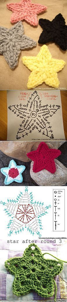 Knitting Patterns Christmas Asterisks crochet different way. Crochet Earrings Pattern, Crochet Snowflake Pattern, Christmas Crochet Patterns, Holiday Crochet, Crochet Snowflakes, Crochet Flower Patterns, Crochet Flowers, Knitting Patterns, Knitting Charts