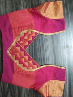 Best 12 Stylish blouse back neck design – SkillOfKing. Saree Blouse Neck Designs, Simple Blouse Designs, Stylish Blouse Design, Patch Work Blouse Designs, Blouse Neck Models, Blouse Neck Patterns, Designer Blouse Patterns, Couture, Blazer