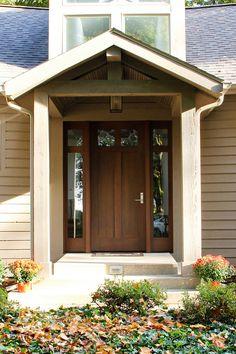 New Front Door And Covered Entry Way. Door Supplied By Rockwood Door U0026  Millwork.