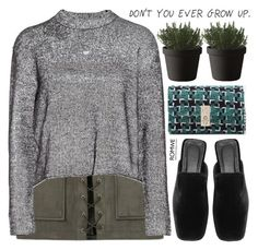 """for real"" by mihreta-m ❤ liked on Polyvore featuring T By Alexander Wang and Muuto"
