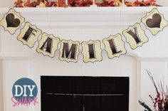 free letters for DIY banners