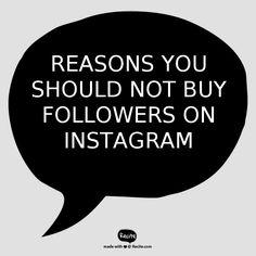 5 Reasons You Should Not Buy Followers On Instagram. #instagram #followers