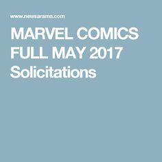 MARVEL COMICS FULL MAY 2017 Solicitations