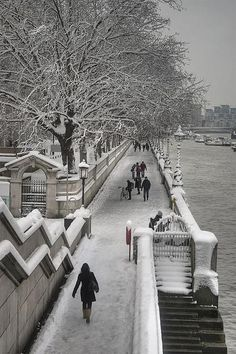 Snowy Day, South Bank, London, England - just like this January (2013)