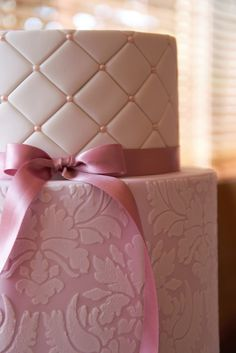 Damask Wedding Cake -- by Couture Cupcakes & Cookies