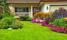 Beautiful Gardening Front Yard Views With Green Grass And Flowers Plants With Home Landscaping Also Small Yard Design. Awesome Exterior For Small House Front Yard Ideas Cheap Landscaping Ideas, Small Front Yard Landscaping, Home Landscaping, Landscaping With Rocks, Landscaping Design, Backyard Ideas, Yard Design, Corner Landscaping, Patio Ideas