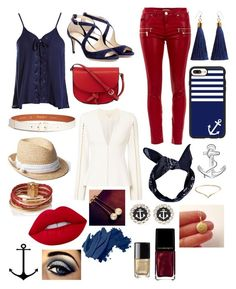 """Nautical⚓️🛳🌊🦀🦑🐙🦐🐠🐟🐡🐬🦈🐳🐋"" by hipsterchic100 ❤ liked on Polyvore featuring Sans Souci, Jonathan Simkhai, Morgan, Jimmy Choo, KC Jagger, Maison Boinet, Boohoo, Gap, Casetify and L.K.Bennett"