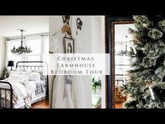 Christmas Farmhouse Bedroom Tour - YouTube Homemaking, Ladder Decor, Farmhouse, Tours, Bedroom, Christmas, Decorating, Home Decor, Winter