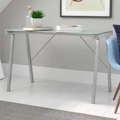 Zipcode Design Douglasville Glass Desk Zipcode Design