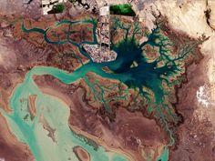 Musa Bay desde el espacio