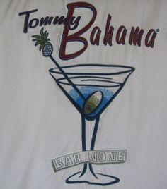 17f16d089b Tommy Bahama Embroidered Camp Shirt Bar None Martini Large Cocktail  Hawaiian #TommyBahama #Hawaiian