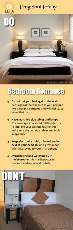 Romance & relationships in the Bedroom: Master Bedrooms often=romance, for good romantic Feng Shui try these tips-