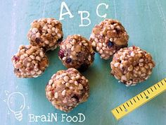 Puffed Millet and Whole Grains make these peanut buttery balls a perfect after school snack or breakfast on-the-Go. Healthy Toddler Meals, Kids Meals, Healthy Snacks, Eating Healthy, Healthy Eats, Healthy Living, Healthy Recipes, Puffed Millet Recipe, Brunch Recipes