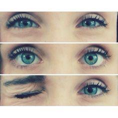 Make up blue eyes