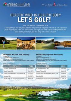 Healthy mind in healthy body Let's #Golf ! #AndiamoTravel