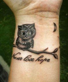 12 Owl Tattoo on Wrist