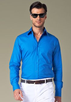 A blue shirt for men is something you would want to indicate your energy and sophistication.