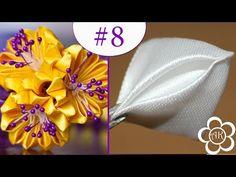 "Basic petals kanzashi # 8 ""from round to sharp"" / Kanzashi Базовые лепестки Канзаши #8 ""Из круглого в Острый "" / Kanzashi - YouTube"