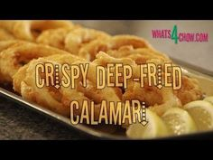 Crispy Deep-Fried Calamari Rings. How to make crisp fried calamari. Deep...