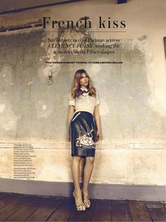 Clemence Poesy in UK InStyle July 2012 2