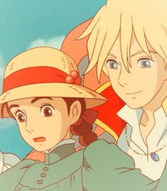 Howl's Moving Castle - Howl & Sophie taking a stroll in the sky