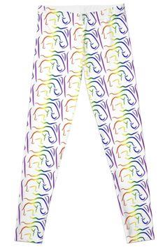 Rainbow Elephant - Leggings  Available on my Redbubble Store  http://www.redbubble.com/people/robinbcreative?asc=u