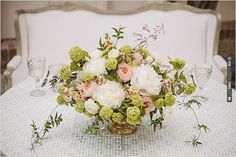 green, pink and white flowers by Stella Bloom Designs | CHECK OUT MORE IDEAS AT WEDDINGPINS.NET | #wedding