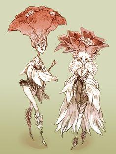 Poppies by sanoe on deviantART Pretty Art, Cute Art, Fantasy Character Design, Character Art, Mythical Creatures Art, Arte Sketchbook, Fairytale Art, Fairy Art, Creature Design