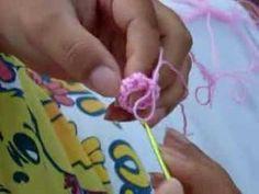 CROCHE - CORDÃO PARA O COLAR DA ROSE - PINK ROSE CROCHET