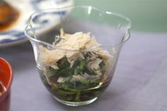 NHK WORLD TV | Your Japanese Kitchen | Watercress with <span style='font-style:italic; '>Sanbaizu</span> Dressing