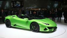 New Lamborghini Huracan Evo Spyder Drops Down (Live Pics) After opening the Huracan Evo Coupe at the beginning of the year, Lamborghini unveiled the new open-top derivative of the Spyder, now allowing it to e. Lamborghini Huracan, Lamborghini Cake, Green Lamborghini, Lamborghini Diablo, Ferrari, Audi Q4, Lamborghini Centenario, Jeep Renegade, Geneva
