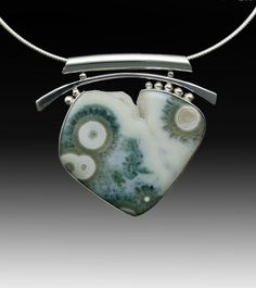 Ocean Jasper pendant by Run Runtenelli contemporary jewelry