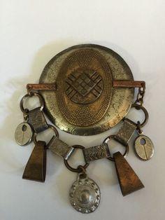 Vintage Marjorie Baer SF Mixed Metals Brooch