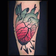 Arrowed Heart by @someztattoo at @cherrytattoo2roma in Rome Italy. #heart #hearttattoo #arrows #sameztattoo #cherrytattoo #cherrytattoo2roma #rome #italy #tattoo  #tattoos #tattoosnob