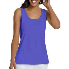18ff6019583c6 Buy Women s Basic Essential Tank at Walmart.com