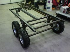Atv Dump Trailer, Atv Utility Trailer, Quad Trailer, Atv Trailers, Custom Trailers, Small Trailer, Trailer Plans, Trailer Build, Bike Trailer