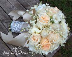 Výsledok vyhľadávania obrázkov pre dopyt menyasszonyi csokor rózsa frézia