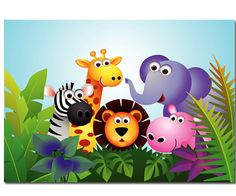 Liven up your kids' space with the African Animals Children's Wallpaper, a made to measure animal design they will love. Buy now with fast & FREE UK delivery! Cartoon Wallpaper, Animal Wallpaper, Childrens Wall Murals, Murals For Kids, Tier Wallpaper, Wallpaper Gallery, Wall Wallpaper, Jungle Animals, Cute Baby Animals