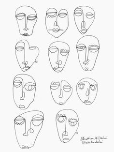 Continuous Line Art Print, One Line Drawing Faces Illustration, Modern Minimalist Sketch Abstract Wall Art Printable Original Artwork Art And Illustration, Art Illustrations, Art Sketches, Art Drawings, Face Line Drawing, Drawing Faces, Minimal Art, Abstract Face Art, Painting Abstract