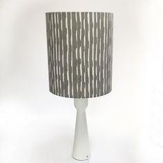 Contemporary Skandi style handprinted lampshade: Original image 0