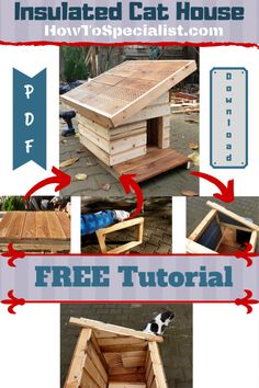 cat house diy how to build a * cat house diy & cat house diy cardboard & cat house diy outdoor & cat house diy indoor & cat house diy how to build a & cat house diy outdoor how to build & cat house diy wooden & cat house diy cardboard boxes Outdoor Cat House Diy, Outdoor Cat Shelter, Outdoor Cats, Feral Cat House, Feral Cats, Feral Cat Shelter, Insulated Cat House, Outside Cat House, Wooden Cat House