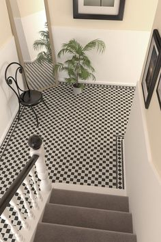 mosaic flooring Black and white mosaic victorian tiles create an inviting entrance or hallway by combining a striking look with classic style Victorian Hallway Tiles, Victorian Mosaic Tile, Tiled Hallway, Edwardian Hallway, Black And White Hallway, Black And White Tiles, Black White, Hall Flooring, Kitchen Flooring