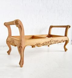 Edwardian Stool Bench / Stool Bench / Dutch Connection Raw Furniture, Upscale Furniture, Mahogany Furniture, Classic Furniture, Furniture Styles, Furniture Design, Wooden Sofa Set, Wooden Decor, Create Your Own Furniture