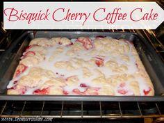 Bisquick Cherry Coffee Cake #breakfast #cherry #dessert
