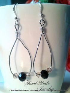 Bisuteria Hecho a Mano -  HadMade Jewelry: Swarovsky Beads Earrings / Pendientes con cuentas swarovsky 4.00 FREE SHIPPING / ENVIO GRATIS   https://www.facebook.com/HandMade.HechoaMano http://bisuteriahechoamano.blogspot.co.uk http://www.etsy.com/shop/HmShop